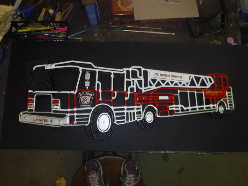 Yard Art - Fire Truck